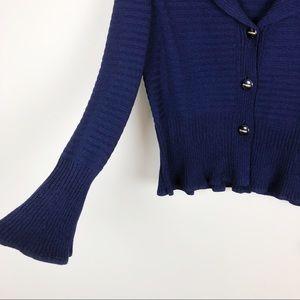 St. John Sweaters - St. John Navy Blue Knit Cardigan Sweater